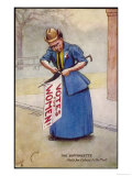 The Suffragette Nails Her Colours to the Mast Giclee Print