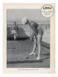 Deck Golf (Putting) on Board an Atlantic Liner Giclee Print