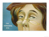 """""""The Disdainful Eye"""", a Woman with Pince-Nez with a Very Disdainful Expression Giclee Print"""