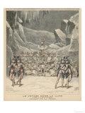 Scene from the Ballet de la Neige in Offenbachs La Voyage dans la Lune Giclee Print