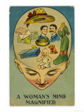 Womans Mind Magnified Giclée-Druck