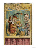 Mr. Punch with Toby the Dog and a Clown Premium Giclee Print