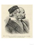 Karl Friedrich Gauss and Wilhelm Edvard Weber German Scientists Giclee Print