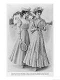 Two Young Ladies Suitably Dressed for a Game Giclee Print