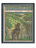 Farmer and His Horse Plough One of a Patchwork of Fields Giclee Print