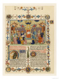 "The Pope in Council, Illustration to the ""Decretum"" of Gratian of Chiusi a Treatise on Canon Law Giclee Print"