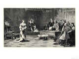 The Trial of the Marriage Between Henry VIII and Catherine of Aragon Which Ends in Divorce Premium Giclee Print