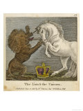 The Lion and the Unicorn were Fighting for the Crown Giclée-Druck