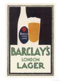 Barclay's London Lager Reproduction procédé giclée