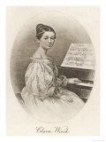 Clara Schumann Nee Wieck German Musician Wife of Robert Schumann as a Young Woman Giclee Print