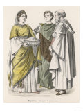 Byzantine Costume: Two Men and a Woman Giclee Print