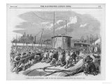 Naval Warship Launched at Millwall on the Thames Giclee Print