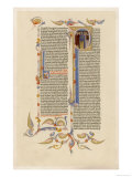 Page from a 14th Century Italian Bible Gicle-tryk
