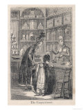 Young Well-Off Mother Spoils Her Little Girl with Sweets Impression giclée