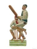 Batsmen and Wicketkeeper Giclee-trykk