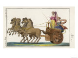 Chariot of the Ancient Greeks with a Woman Driver and a Woman Passenger Giclee Print