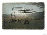 Wilbur Wright Rounds a Pylon at Auvours to Demonstrate the Manoeuvrability of His Biplane Giclee Print