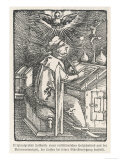 Martin Luther Depicted While Translating the Bible During His Seclusion at the Wartburg Gicle-tryk