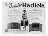 The Portable (Well Sort Of) Radiola Receiver Loud Speaker and Amplifier Giclee Print
