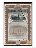 Indiana Illinois and Iowa Railroad Company Share Certificate Giclee Print