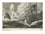 Whale Captured by a Steamship Giclee Print