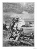 John Williams is Killed by a Native of Samoa Giclee Print