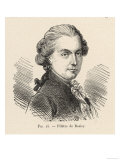 Jean-Francois Pilatre de Rozier French Physicist and Aeronaut, Giclee Print
