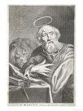 Saint Mark the Evangelist Saint Mark Shown Writing His Gospel Giclee Print