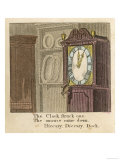Hiccory Diccory Dock the Mouse Ran up the Clock Giclee Print