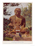 "The ""Daibutsu"", a Giant Statue of the Buddha at Kamakura Japan Giclee Print"