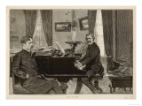 Giuseppe Verdi the Italian Opera Composer with His Librettist Arrigo Boito Giclee Print
