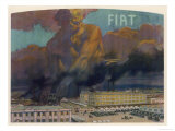 Fiat Factory Giclee Print