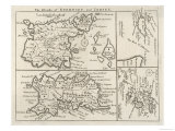 Map of Jersey Guernsey Alderney Sark and the Scilly Isles Giclee Print