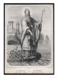 Saint Patrick He Drives the Snakes out of Ireland Giclee Print