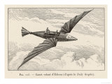 Thomas Alva Edison's Flying Canoe the Smaller of His Two Projected Flying Machines Premium Giclee Print