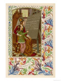 Medieval Youth Reads from a Blackboard the Virtues of Sirop Delebarre Giclee Print