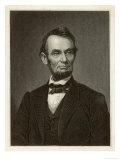 Abraham Lincoln U.S. President Reproduction procédé giclée