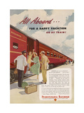 Promoting the Pennsylvania Railroad Giclee Print