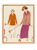 Well-Dressed Croquet Player Wearing a Model from James et Cie Giclee Print