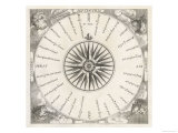 "French Compass ""Rose"" Including the Four Winds Giclee Print"