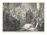 Martin Luther at the Diet of Worms Giclée-tryk