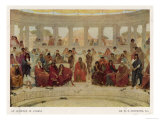 Colourfully Dressed Sophisticated Audience of an Athenian Theatre Giclee Print