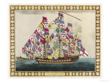 Kings Ship Dressed with the Colours of Different Nations Giclee Print
