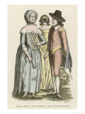 An English Man and Two Women of the Mid-17th Century Giclee Print