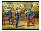 Emperor Napoleon III of France Surrenders to Kaiser Wilhelm of Prussia the Day Giclee Print
