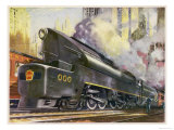 Train of the Pennsylvania Railroad is Hauled by Their Class T-1 Passenger Locomotive Giclee Print