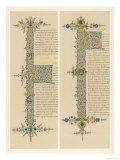 Two Initial Qs from an Italian Manuscript of the de Civitate Dei of Saint Augustine Giclee Print