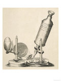 Robert Hooke&#39;s Microscope Reproduction proc&#233;d&#233; gicl&#233;e