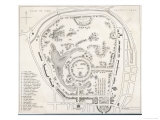 Plan of Regent's Park Including Regent's Canal and Marylebone Church Giclee Print