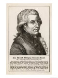 Wolfgang Amadeus Mozart the Austrian Composer Giclee Print